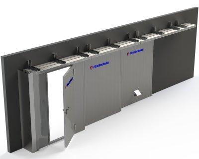 Противопожарные откатные ворота FireTechnics-P EI90